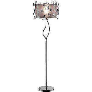 "HONGVILLE K-5121F Crystal Floor Lamp, 63"" x 18"" x 18"", Silver"