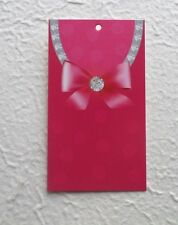 100 Hang Tags Retail Tags Cute Diamonds & Bow Tags Price Tags W/ Plastic Loops