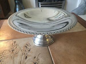 VINTAGE YEOMAN PLATE SILVER SERVING PLATE  / DISH For Sweets Etc