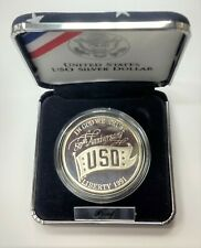 US Silver Coin  $1 50th Anniversary USO 1991 United States Service Organization
