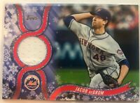 2018 Topps Walmart Holiday Mega Jacob Degrom Relic Jersey R-JD