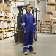 Walls 100% Cotton Work Wear Overalls Coverall Mechanic Boiler Suit Royal RRP £32