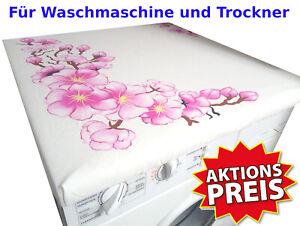Waschmaschinenüberzug Waschmaschine Abdeckung Waschmaschinenbezug Trockner Blüte
