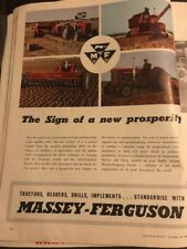 Massey Ferguson Rural Original 1950s Vintage Print Advertising CBC Sydney