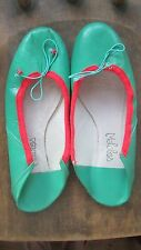 MALOLES PARIS Ballet Flattened Slip In FLATS Green Slipper SHOES New no Tags