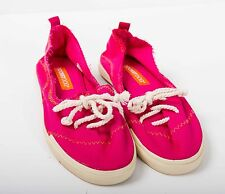 Rocket Dog bright PINK canvas sneakers pumps trainers flats lace ups shoes UK 7