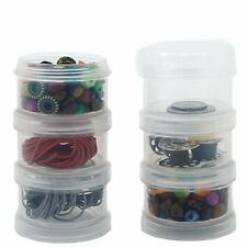 Storage Container Impact Resistant Stackable Clear Containers 6 For Beads Crafts