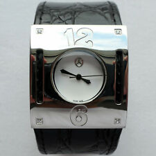 Mercedes Benz Ladies Women's Classic Car Accessory Diamonds Swiss Made Watch