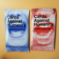 2Pcs (Vote for Hillary&Vote For Trump) Cards Against Booster Expansion Pack T11