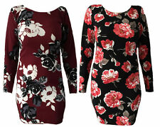 Long Sleeve Casual Floral Dresses for Women
