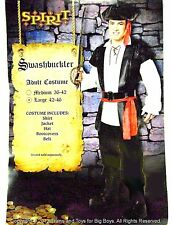 SWASHBUCKLER PIRATE HALLOWEEN COSTUME MEN'S LARGE 42-46 Pirates Mens L New I
