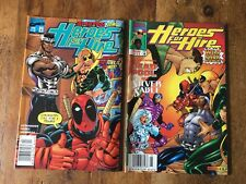 Heroes For Hire #10 #11 Lot of 2 Deadpool Covers VF+ Iron Fist Luke Cage 1998