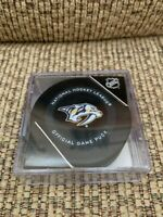 NEW 2019-2020 Nashville Predators official game puck with holder