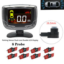 8Parking Sensor Dual-core Double LCD Display Car Truck Alarm Kit Handy Universal