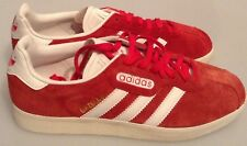 ADIDAS GAZELLE SUPER TRAINERS VINTAGE RED SUEDE SIZE UK 7 NEW WITH DEFECTS