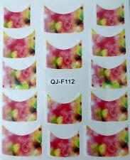 Accessoire ongles : nail art - Stickers décalcomanie - motifs fleurs floutées