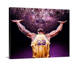 LeBron James Canvas Wall Art Picture Mancave 16X20 LA Lakers 23 King James Kobe