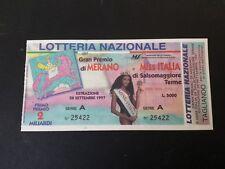 BIGLIETTO LOTTERIA DI MERANO E MISS ITALIA  1997