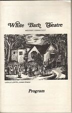 "June Havoc Playbill1983 ""Unexpected Evening With June Havoc"" White Barn Theatre"