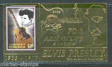 DOMINICA 2005 70th BIRTH ANNIVERSARY OF ELVIS PRESLEY GOLD FOIL STAMP  MINT NH