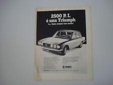 advertising Pubblicità 1972 TRIUMPH 2500 P.I.
