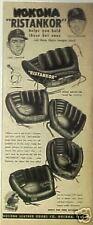 1954 Nokona Ristankor C.Erskine/C.Carrasquel Baseball Gloves~Mitts Print Ad