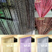 Curtain Door String Beads Room Divider Window Panel Tassel Crystal Fringe Xmas
