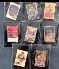 UNIQLO  DISNEY Poster Art Collection Pin Badge Limited All 8 Types Set JAPAN