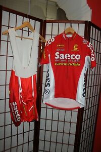 Saeco Cannondale cycling Team jersey with shorts , size M .ALY