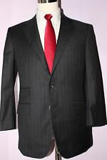Nutters Savile Row Gray Striped Side Vented Wool Two Button Suit 41 R 34 28 1