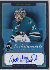 13-14 The Cup Antti Niemi /60 Auto Enshrinements Sharks 2013