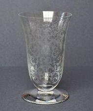 Baccarat France Glasvase Blumenvase Vase geätzt Rokokomuster Höhe 16 cm
