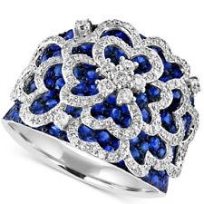 Lot 925 Sterling Silver Blue Topaz Sapphire Gemstone Rings Women Men Jewelry NEW