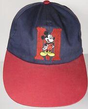 Vintage 1990s WALT DISNEY MICKEY MOUSE LOGO Ladies Womens Hat Cap NAVY DARK RED