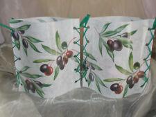 Deko Windlicht Olivenzweige Oliven  Vintage Tischlicht Unikat Geschenkidee