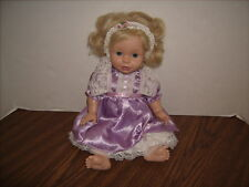 "Baby So Beautiful 14"" Doll 1995 Playmates  with Original Dress and Headband"