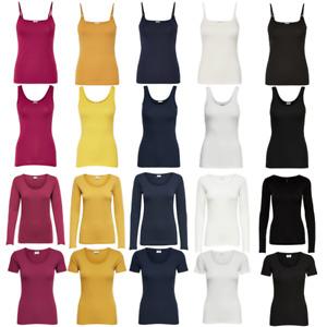 ONLY Damen Basic Tank Top Kurz Lang Oberteil Long T-Shirt Strap Singlet Party