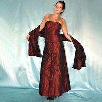 3 tlg SET mit ABENDROCK + CORSAGE* XS * Kostüm* Abendkleid* Etuikleid* Ballkleid
