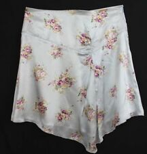 Above Knee Floral 100% Silk Skirts for Women