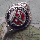 Vintage Cunard White Star Line RMS Queen Mary Kings Crown Enamel Pennant Spoon z