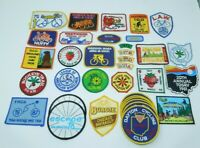 Lot of 35 Vintage Bicycle Patches 1975-94 Bike Club Cycling, LAW, Huffy, Ohio