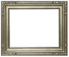 12 x 16 Arts & Crafts Style Picture Frame Hand Applied Silver Leaf Beauty
