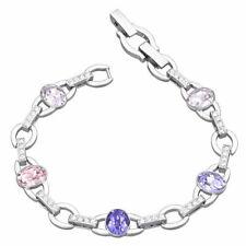 Swarovski para mujer Pulsera Henriette T Rodio Plateado Multicolor Cristal 5299327
