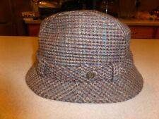 Country Gentleman Vintage Bucket FedoraTweed Hat sz 7 3/8