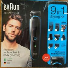 Braun MGK5280 Mens 9-in-1 Beard Trimmer Shaver, Hair Clipper, Body Grooming Kit