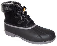 New SPORTO DEFROST BLACK INSULATED LEATHER/RUBBER DUCK BOOTS FURRY LINED 11 M