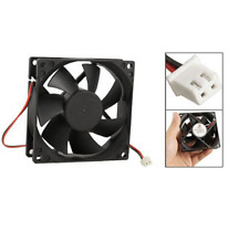 12V Black 80mm Square Plastic Cooling Fan For Computer PC Case