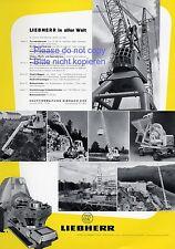 Liebherr Biberach XL Reklame 1956 Bagger Kran Baukran excavator crane Werbung ad