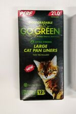PERF GO GREEN Extra Strong Biodegradable Cat Pan Liner Box of Large Liners