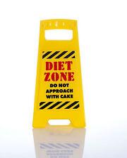 Dieta zona non Avvicinatevi con la torta scrivania segno Giallo 25cm Ufficio Divertente Regalo Nuovo